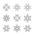 A set of circular ornaments vector image vector image