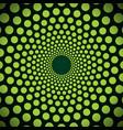 abstract dark green background of small circles vector image vector image