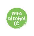 alcohol free label icon zero icon