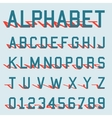 Alphabet shadow template vector image