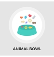 Animal Bowl Flat Icon vector image vector image