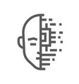artificial intelligence line icon vector image vector image