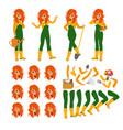 attractive gardener funny character design vector image vector image