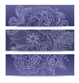 Banners with doddle pattern vector image vector image