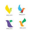 bird logo icon design vector image vector image
