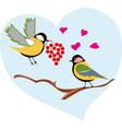 birds bullfinches on a branch vector image