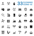 Black Cleaning Service Icons vector image