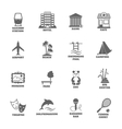 Building Tourism Icons vector image vector image