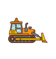 bulldozer construction icon vector image vector image