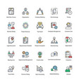 business management flat icons vector image vector image