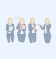 business planning communication presentation vector image vector image