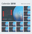 calendar for 2018 year design print vector image