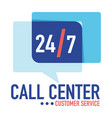 call center customer service 24 7 support vector image