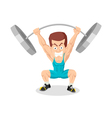 Caricature Weightlifter vector image vector image
