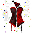 carnival corset vector image vector image