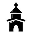 church icon simple style vector image