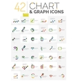 Collection of chart logos vector image vector image