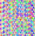 Colorful pattern with chaotic triangles vector image vector image