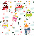 cute sweet pink and blue triangle seamless pattern vector image vector image