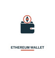 ethereum wallet icon creative two colors design vector image vector image