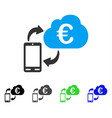 euro cloud banking flat icon vector image vector image