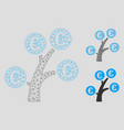 euro money tree mesh network model and vector image vector image