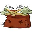 evil purse vector image