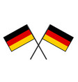 flag of germany stylization of national banner vector image