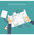 Flat architectural project vector image vector image