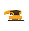 flat icon of electric sandpaper orange vector image vector image