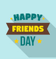 friendship day logo flat style vector image vector image