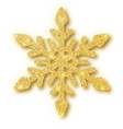 Gold glitter texture snowflake isolated on white