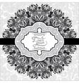 grey vintage floral ornamental template on flower vector image vector image