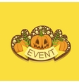 Halloween Event Template Label Cute Sticker vector image vector image