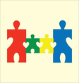 Happy family puzzle vector image vector image