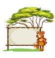 Honeybear Signboard vector image vector image
