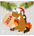 horse symbol of 2014 year vector image