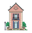 house with blue shutters vector image vector image