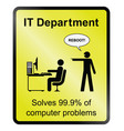 it department information sign vector image
