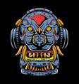 lion cyborg vector image vector image
