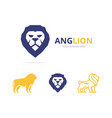 Lion logo or symbol design template vector image