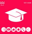 master cap for graduates square academic cap vector image vector image