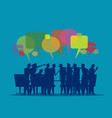 meeting discussion listening vector image vector image