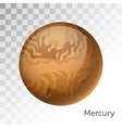 Mercury planet 3d vector image