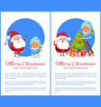 merry christmas singing carols vector image