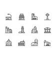 modern city building icon symbols set contains vector image vector image
