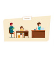 modern education in school lesson at home and in vector image vector image