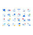 modern flat design icons vector image vector image
