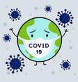 novel coronavirus 2019-ncov virus covid19 19-ncp vector image vector image