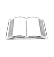 open book hand draw vector image vector image